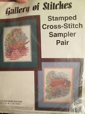Gallery Of Stitches Garden Sampler Stamped Cross Stitch Pair-2x8x10 Inches