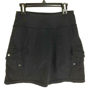 Athleta Running Skirt XXS Black Sporty Tennis Lined Shorts 2 Cargo Pocket A Line