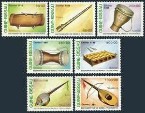 Guinea Bissau 834-840,MNH.Michel 1011-1017. Musical Instruments,1989:Bombalon,