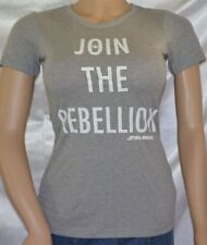 Womens STAR WARS Join The Rebellion Force 4 Change Short Sleeve Tee Shirt Top XS