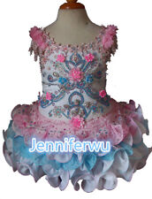 15 color-Infant/toddler/kids/baby/Girl's Pageant/prom/formal Dress size1-7 G290
