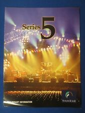 SOUNDCRAFT SERIES 5 SALES BROCHURE FACTORY ORIGINAL PRELIMINARY INFORMATION