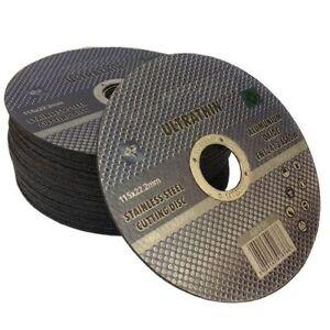 50 x Ultra thin 115 x 1mm stainless steel cuttings dics - metal cutting slitting