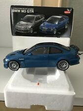 Maqueta de coche 1:18 Kyosho bmw m3 GTR e 46 azul OVP rar