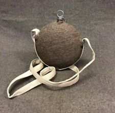 Civil War Canteen - Stainless Steel with Jean Wool Cover - Smooth Side