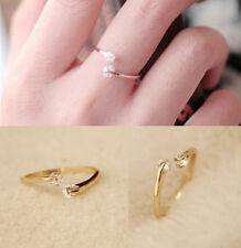 Fashion Womens Crystal Finger Open Ring Adjustable for Bridal Enagement