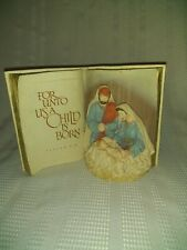 Vintage Rare AGC Silent Night Music Book Porcelain Nativity collectable