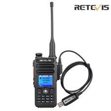 Retevis RT82 Digital Walkie Talkie Dual Banda UHF+VHF VOX LCD DMR Radio 5W+Cable