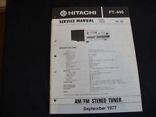 Original Service Manual Hitachi FT-440