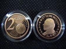 VATICANO 2003 n° 1 moneta da CENT 2 EUROCENT FONDO A SPECCHIO PROOF FS PP BE