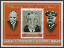 Manama 1972 ** Bl.93 A Politiker politicians Churchill Roosevelt Eisenhower