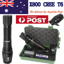 20000lm CREE XM-L T6 LED USB Flashlight Torch 18650/AAA Battery Charger Mount AU