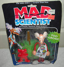 #9525 RARE NRFB Vintage Mattel Mad Scientist Bendable Posable Figure