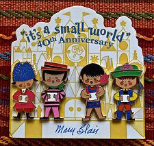 Disney It's A Small World Mary Blair 40th Anniversary 4 Pin Set On Card ExHTF
