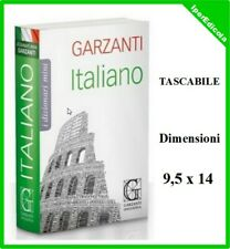 dizionario vocabolario della lingua italiana di italiano tascabile mini garzanti