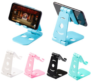 Universal Adjustable Mobile Phone Holder Stand Desk Swivel Foldable Portable UK