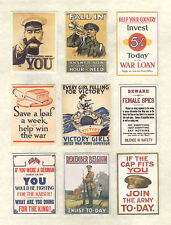 Lot de hand-made Dolls 'House échelle 1/12TH WW1 posters