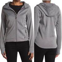 Spyder Women's Full Zip Polar Fleece Lined Hooded Jacket Size Small Grey NWT