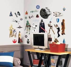 RoomMates Wandtattoo Star Wars Episode 4-6 Han Solo Luke Skywalker Darth Vader