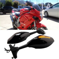 LED Turn Signals Sports Racing Side Mirrors Smoke Lens For Hyosung GT250R GT650R