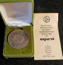 WORLD'S FAIR EXPO 74 SPOKANE WASHINGTON USA Ornate Medallion 1970 Souvenir w321