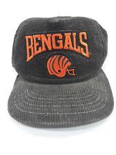 Vintage NFL Cincinnati Bengals New Era Corduroy Snapback Cap Hat OSFA NWOT