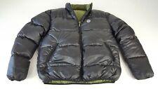 Rossignol Mens Goose Down Puffer Jacket Reversible Black Green Medium w7