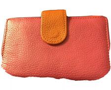 Kelly & Katie Pink & Orange New Leather Wallet