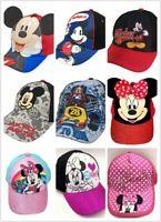 Disney Mickey & Minnie Boys Girls Cartoon Character Baseball Cap Hat - Toddler