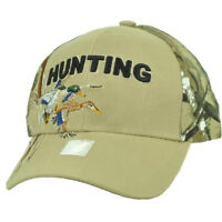 Hunting Duck Season Hunters Hunt Beige Camouflage Adjustable Hat Cap Curved Bill