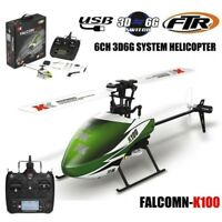 XK K100 6CH 3D 6G System RTF RC Helicopter Built-In Gyro Super Stable Flight UK