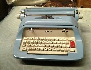 Vintage 1960s Blue Royal Ultronic Electric Typewriter Model 113E