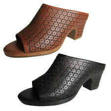 Leather Mules Solid Heels for Women