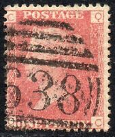 1869 SG 43 1d rose-red 'QC' Plate 125 with Duplex Cancellation Fine Used