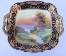 Noritake Large Scenic HP Gilded Bowl