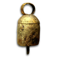 One Dozen 2.25 inches high Rounded Top Tin Bells with Metal Striker Cattle Bell