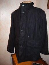 Men's Winter Overcoat - Knightsbridge - EUC-polyester -size M- Solid Black/lined