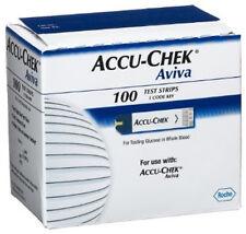 100 tiras  Accu-check Aviva  reactivas para glucosa (Alta caducidad)