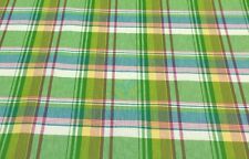 "WAVERLY LIMEADE PLAID PINK GREEN TURQUOISE STRIPE FABRIC BY THE YARD 54""W"