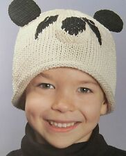 PANDA HAT knit KIDS kid size cap girls boys Organic Cotton SOFT New BEANIE delux