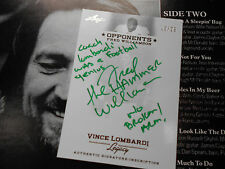 Fred  Williamson autographed GREEN /25 auto Leaf Lombardi signed autograph 2011