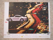 1985 Porsche 959 Showroom Advertising Sales Poster RARE!! Awesome L@@K