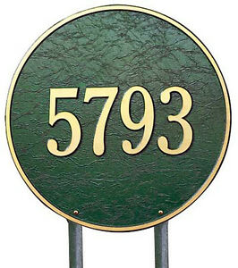"""Whitehall 15"""" Round Large Address Marker Estate-Size Plaque - 17 Color Choices"""