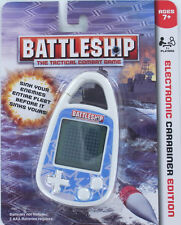 BATTLESHIP Handheld ELECTRONIC Game Clip-on Carabiner Mini Grid Ships Hasbro NEW