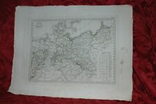 Carta Geografica Regno di Prussia Caduta Napoleone Confini Congresso di Vienna