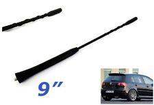 """Volkswagen Black 9"""" Replacement Antenna Roof Aerial Mast Spiral AM FM Radio VW"""