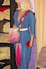 Louis Vuitton 'FOXY' Bag Charm Tassel Key Chain Pink FOX TAIL Fur LIMITED RUNWAY