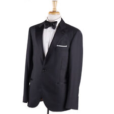 c150394c8851b1 NWT $4595 BRUNELLO CUCINELLI Charcoal Gray Wool-Silk Tuxedo 40 R Suit