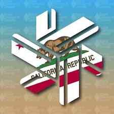 "Northstar California State Flag Bear Tahoe 5"" Custom Vinyl Decal Sticker JDM"