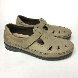 SAS Roamer Sage Mary Jane Comfort Flats Women's Size 9.5 W Shoes $169 MSRP
